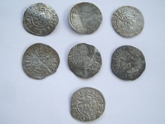 Hammered English pennies found near Crlisle obverses