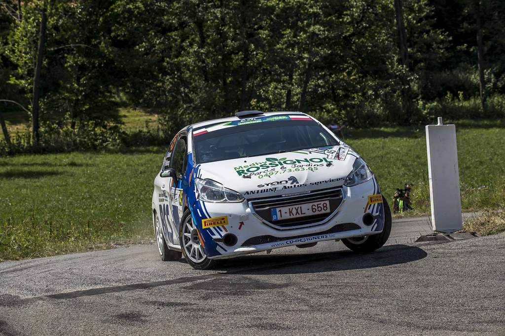45 BEDORET Sebastien (BEL) WALBRECQ Thomas (BEL) Peugeot 208 R2 action during the 2017 European Rally Championship Rally Rzeszow in Poland from August 3 to 5 - Photo Gregory Lenormand / DPPI