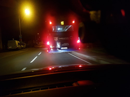 Oh ein gute Nacht Bussi Night Car Transportation Red Road No People City Outdoors 113 Schmetterling Ammerndorf öpnv Bus