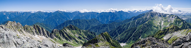 八ツ峰と白馬岳~立山@剱岳