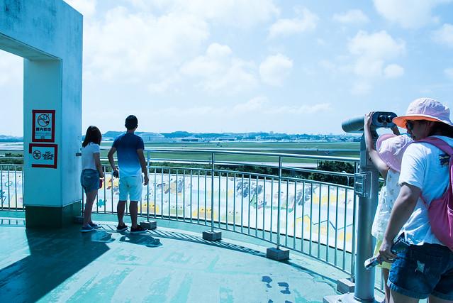 嘉手納飛行場観察スポット、道の駅かでな展望バルコニー。嘉手納 Kadena, Okinawa, 11 Aug 2017 -00365