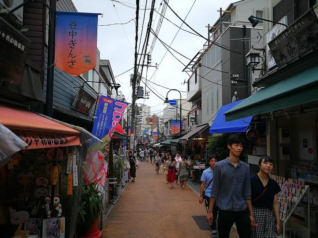 Yanaka pedestrian shopping street
