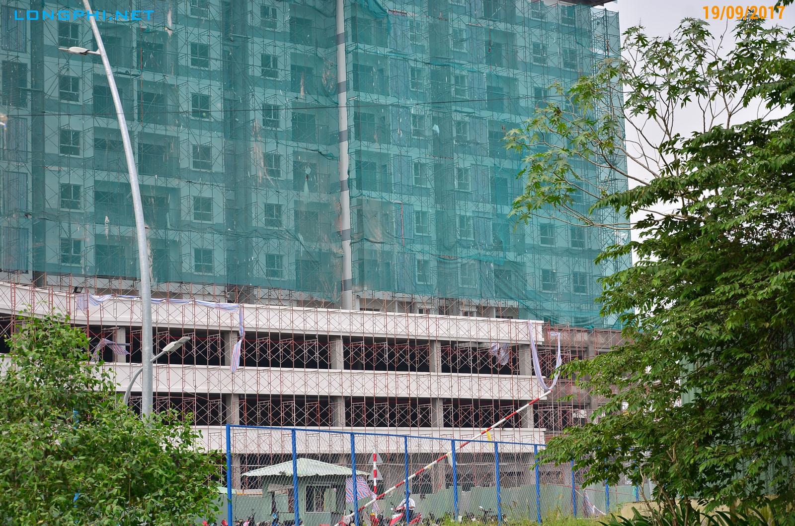 Công tác thi công khối đế thương mại, tiện ích và gửi xe các tầng 1-2-3 Tháp Bắc M1 - Jamona Apartment Luxury Home.