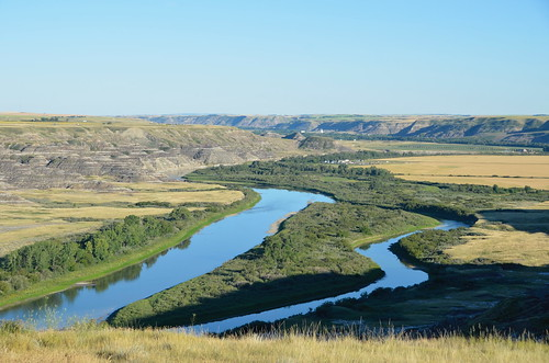 Drumheller view of the Red Dear River