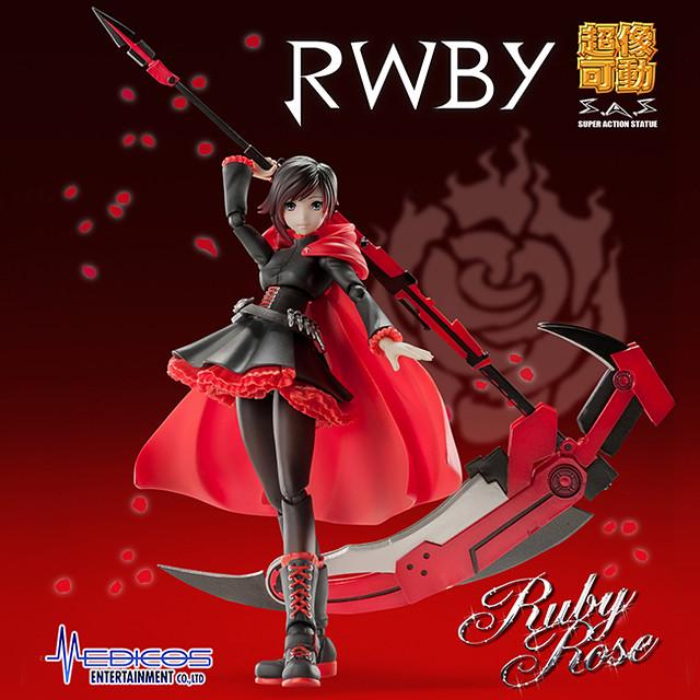 超像可動 《RWBY》小紅帽「露比·蘿絲」(Ruby Rose;ルビー・ローズ)