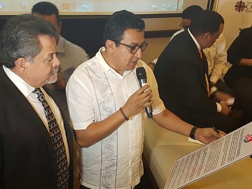 Candidatos a la Alcaldía de San Pedro Sula firman carta-compromiso para la reducción de homicidios