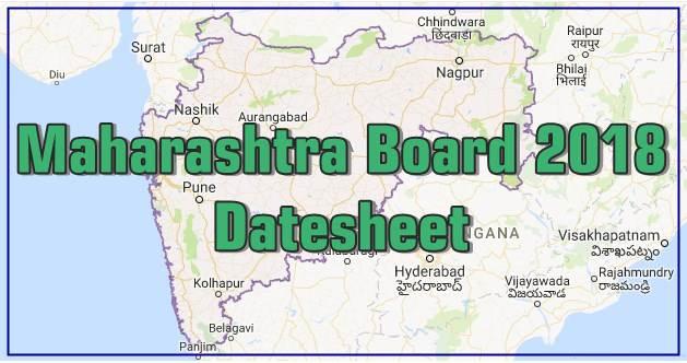 Maharashtra Board 2018 Timetable