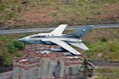 RAF Tornado GR4 ZA614 076 low flying through Thirlmere