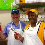 Icecream with Sonia Wiggins of the Lions Club
