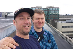 Me and Alex on roof of abandoned post office
