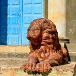 Lion à l'entrée du Château Faure