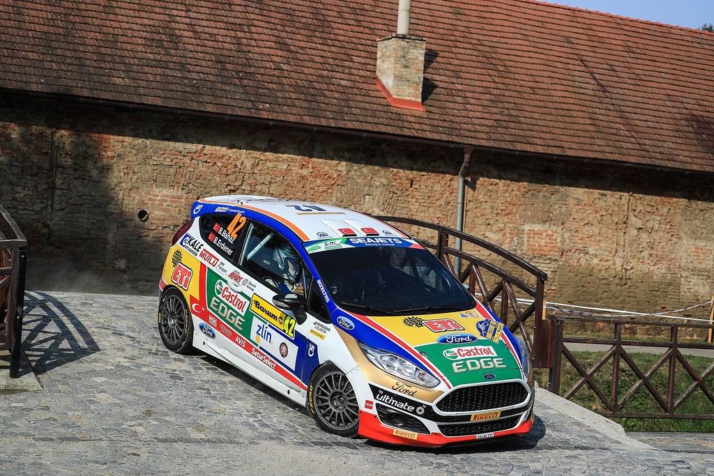 42 BANAZ Bugra (TUR) ERDENER Burak (TUR) Ford Fiesta R2 action during the 2017 European Rally Championship ERC Barum rally,  from August 25 to 27, at Zlin, Czech Republic - Photo Jorge Cunha / DPPI