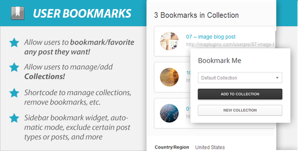 WordPress User Bookmarks (Standalone version) v3.4