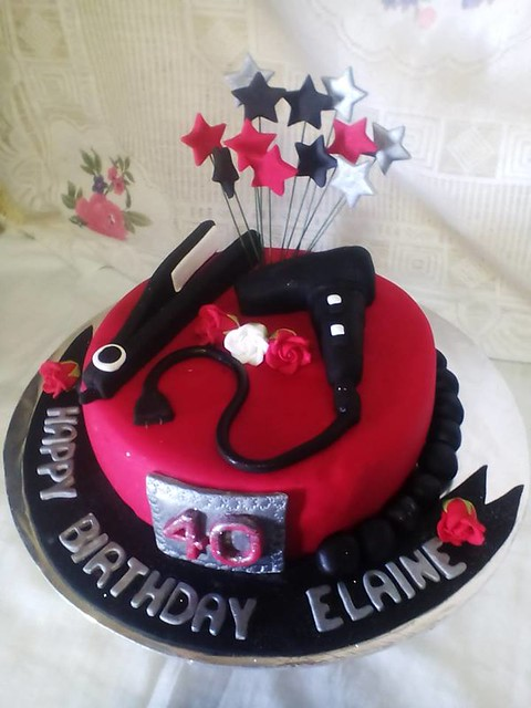 Hairdressing Themed Cake by Evelyn De Villiers of Evelyns Pastries