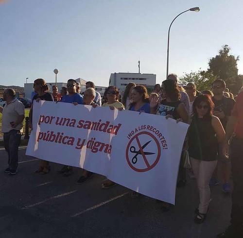 Nieto en  manifestación sanidad Algeciras1
