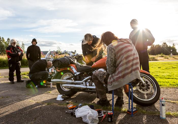 motoristit koulukiusaamista vastaan mkkv lappi lapland tour 2017 biker moottoripyörän huolto korjaus yamaha  (1 of 1)