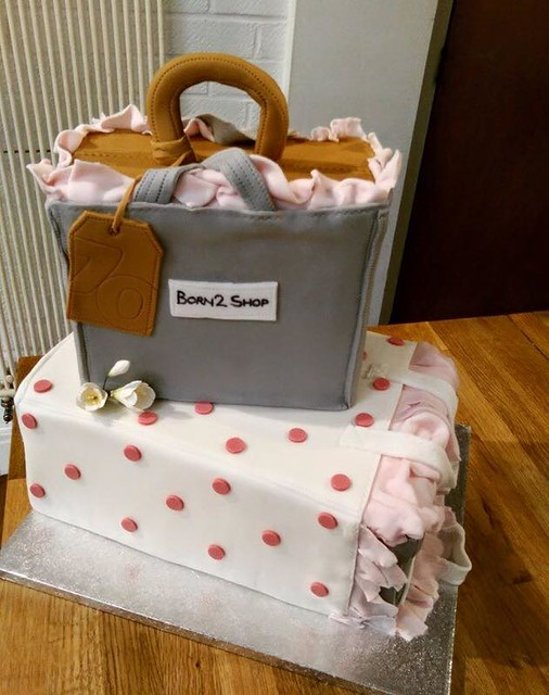Shopping Bags Cake by Lydia's Bakehouse