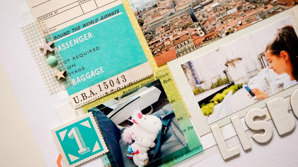 Scrapbook Layout Lisboa