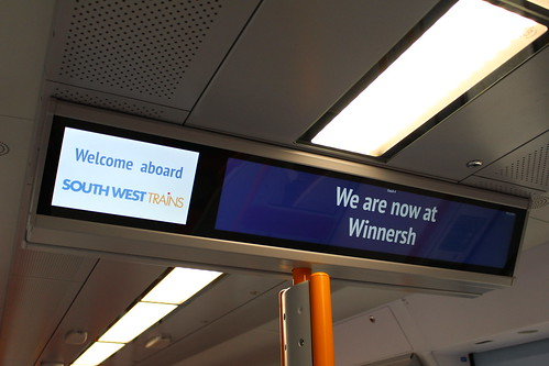 @ Winnersh on Class 707 displays under South West Trains