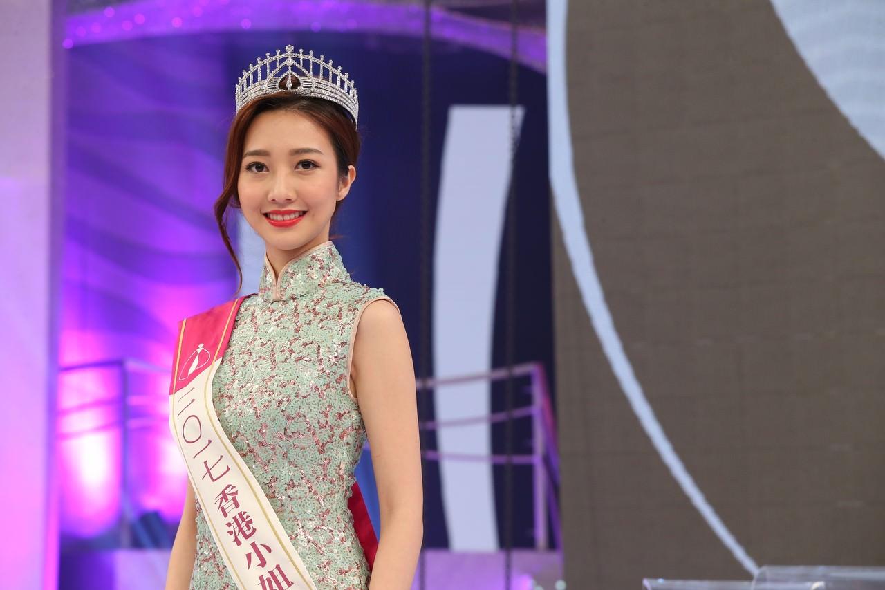 2017年度香港小姐亞軍何依婷。(資料圖片/黃國立攝)