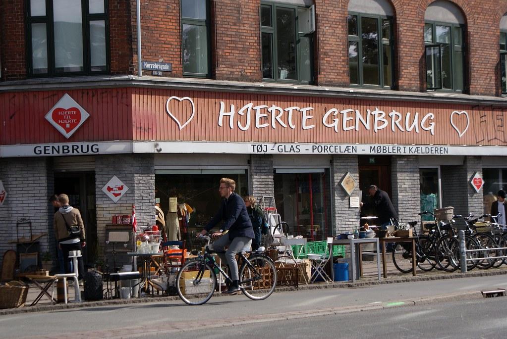 Brocante / bric à brac Hjerte Genbrug à Copenhague.