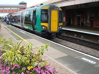 Class 172 Turbostar unit 172334 at Stratford-Upon-Avon