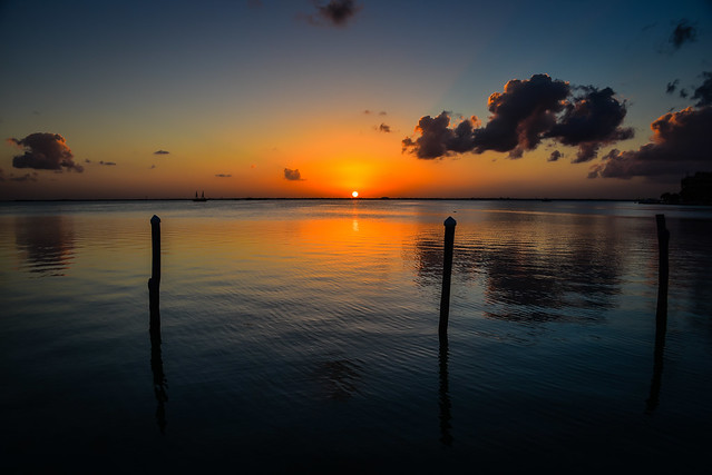 Sunset on the Lagoon at La Isla Shopping Village - Cancun Mexico