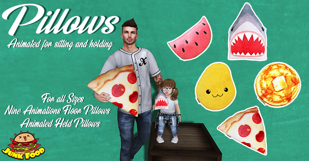 Junk Food - Pillows - SecondLifeHub.com