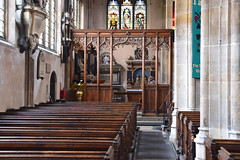 north aisle and 19th Century screen
