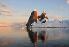 Late evening at the entrance of Lemaire Channel, Antarctica