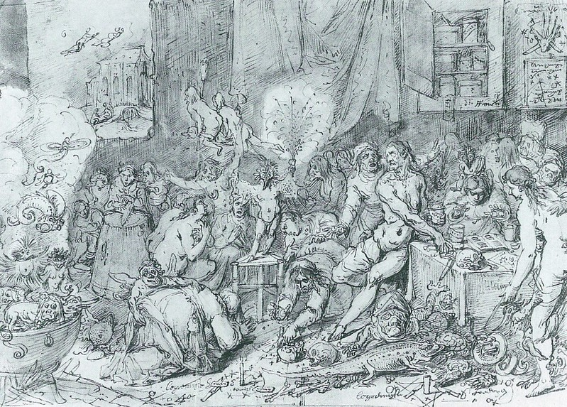 Frans Francken the Younger - Homage to the  Devil, 17th C