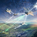 Illustration depicting the future integration of the Air Force enabling Fusion Warfare, where huge sets of ISR data are collected, analyzed by artificial intelligence and utilized by Airmen and the Joint Force in a seamless process to stay many steps ahead of an adversary. (Illustration/U.S. Air Force)