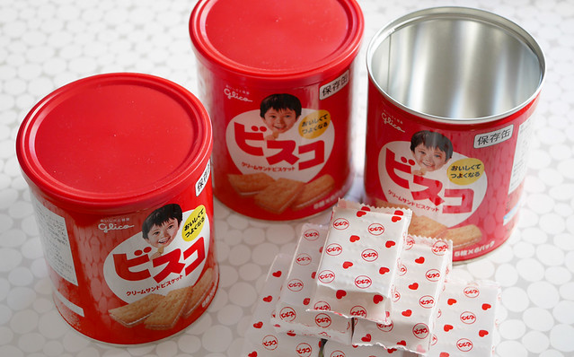 地震 震災 防災 備蓄 非常食 グリコ ビスコ 缶詰