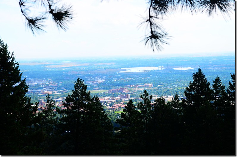 Overlooking Boulder downtown from the talus field 1