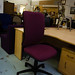 Purple 2 level swivel chair large  E75