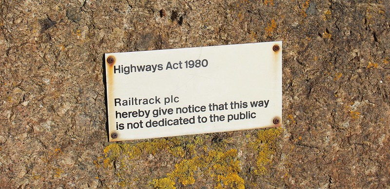 Railtrack sign near Penzance