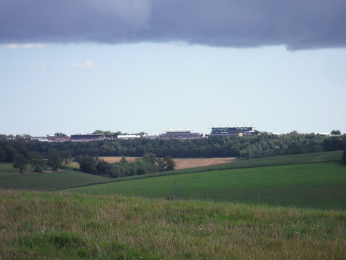 Goodwood Race Course under dark clouds