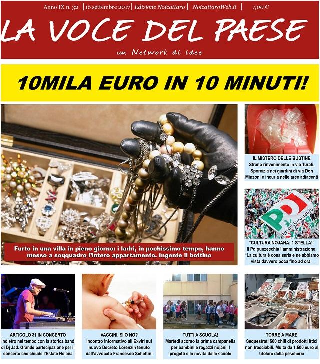 Noicattaro. Prima pagina n. 32-2017 intero