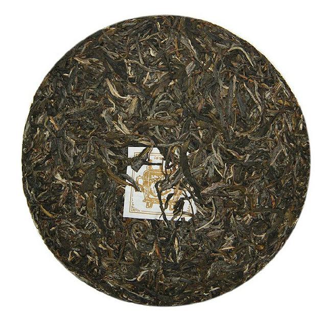Free Shipping 2014 ChenShengHao FuYuanChangHao GuYun Round Beeng Cake 357g YunNan MengHai Organic Pu'er Raw Tea Sheng Cha Weight Loss Slim Beauty