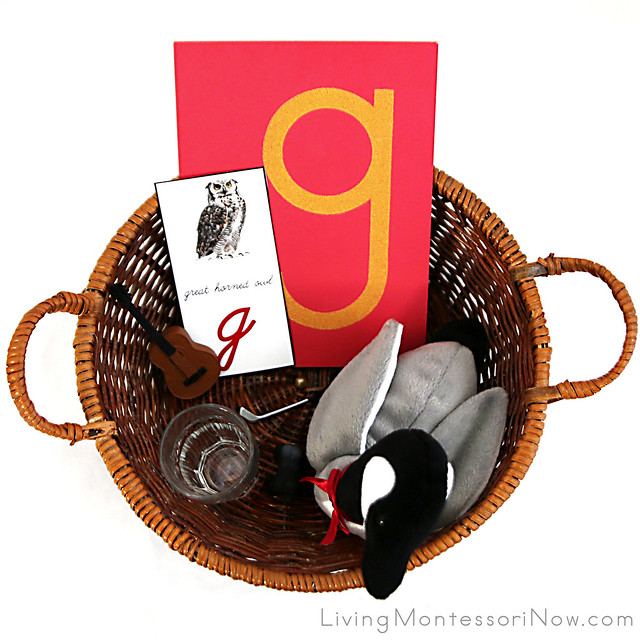 Letter G Object Basket