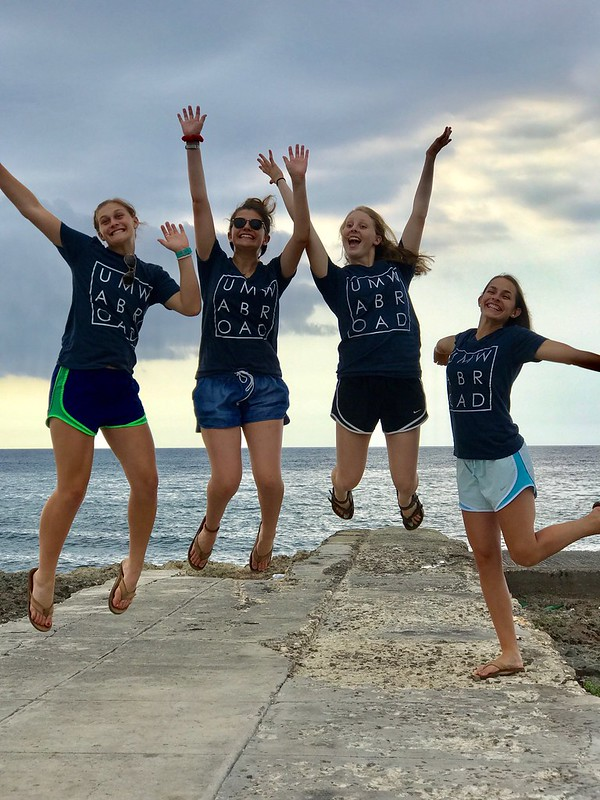 Jumping for joy on UMW study abroad in Cuba #ds106