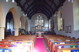 looking east, Butterfield's nave