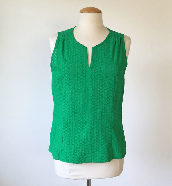 green eyelet top front on form