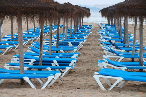 Hamacas en la playa de Mil Palmeras