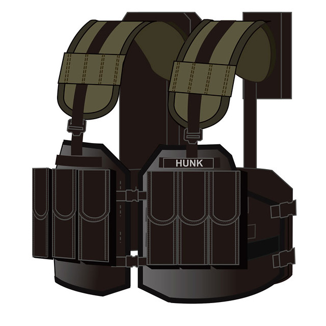 """名為「死神」的第四倖存者裝備!《惡靈古堡》保護傘特殊作戰部隊""""HUNK"""" 戰術背心 バイオハザード タクティカルベスト ハンクモデル"""