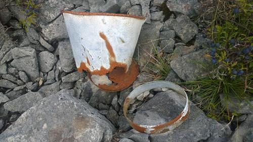 bucket broken abandoned sloe limestone cameraphone lumia1020 rust