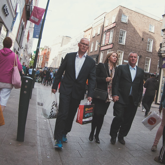 Friday night, ties off. Are his runners new? Are his work shoes in the Elvery's (sports) bag? Is dinner in the M&S bag? .
