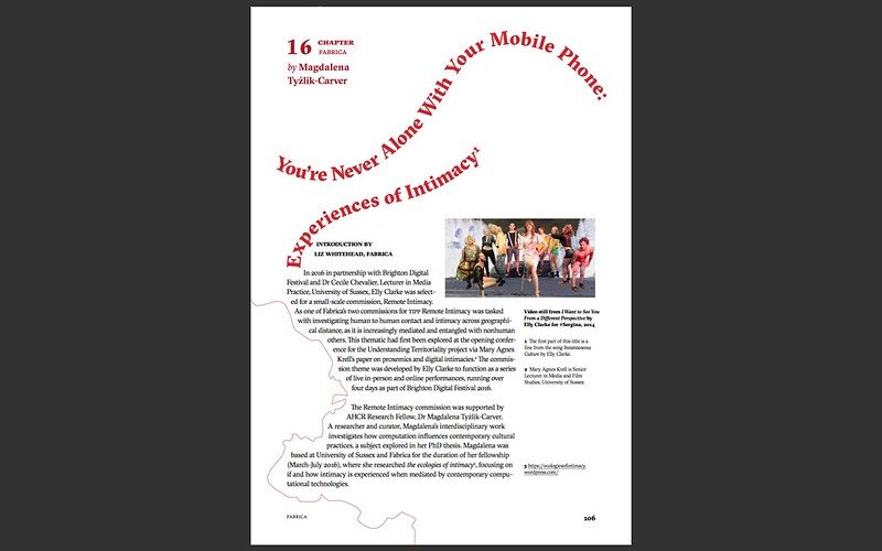 Never Alone With A Mobile Phone: essay about #Sergina by Magdalena Ty?lik-Carver