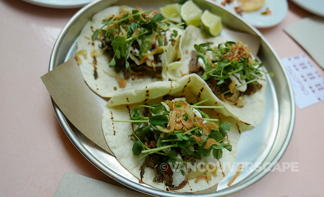 Tacofino Oasis duck tacos