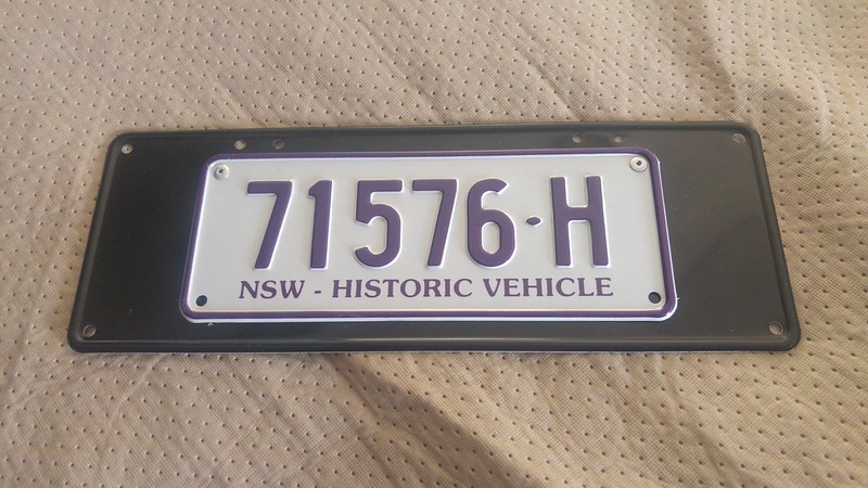 NSW Historic plate mount